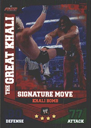 Great Finishing (2010 Topps Slam Attax Mayhem WWE Finishing Moves #15 The Great Khali/Khali Bomb - NM-MT)