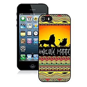Fashionable And Unique Designed Case With Hakuna Matata on Sunset Lion King Black For iPhone 5 5S Phone Case