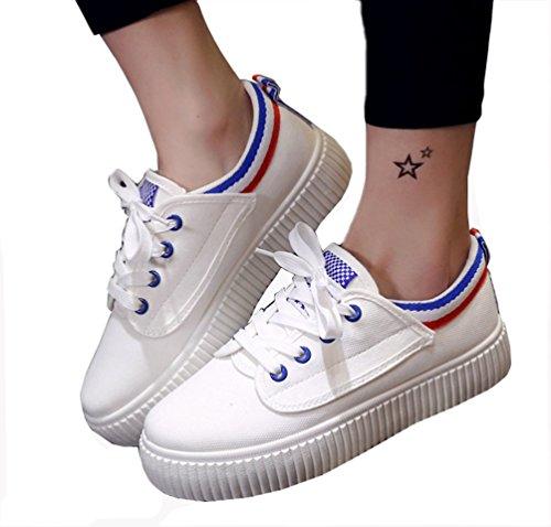 Trainer VECJUNIA Atmungsaktiv Damen Blau Casual Schuhe Schuhe Canvas xOOIqp