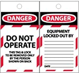 TAGS, DANGER, DO NOT OPERATE, 6X3, SYNTHETIC PAPER, 100/BOX