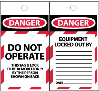 TAGS, DANGER, DO NOT OPERATE, 6X3, SYNTHETIC PAPER, 100/BOX by NMC (Image #1)