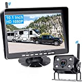 RV Backup Camera AMTIFO HD 1080P Wireless Rear View Camera,10 Inch Monitor Trailer Camera System with DVR Recording,Support add up to 4 RV Cameras,IP69K Waterproof,IR Night Vision-A11
