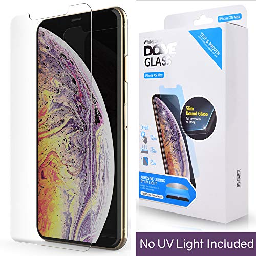 iPhone Xs MAX Screen Protector Tempered Glass, Full Cover Screen Shield [No UV Light Included] Backup Kit by Whitestone for Apple iPhone 10s MAX (2018) - Replacement Only by Dome Glass (Image #8)