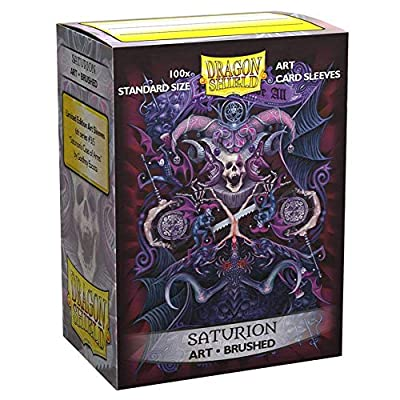 Dragon Shield Standard Size Brushed Art Sleeves – 100 Count Saturion Coat of Arms: Sports & Outdoors