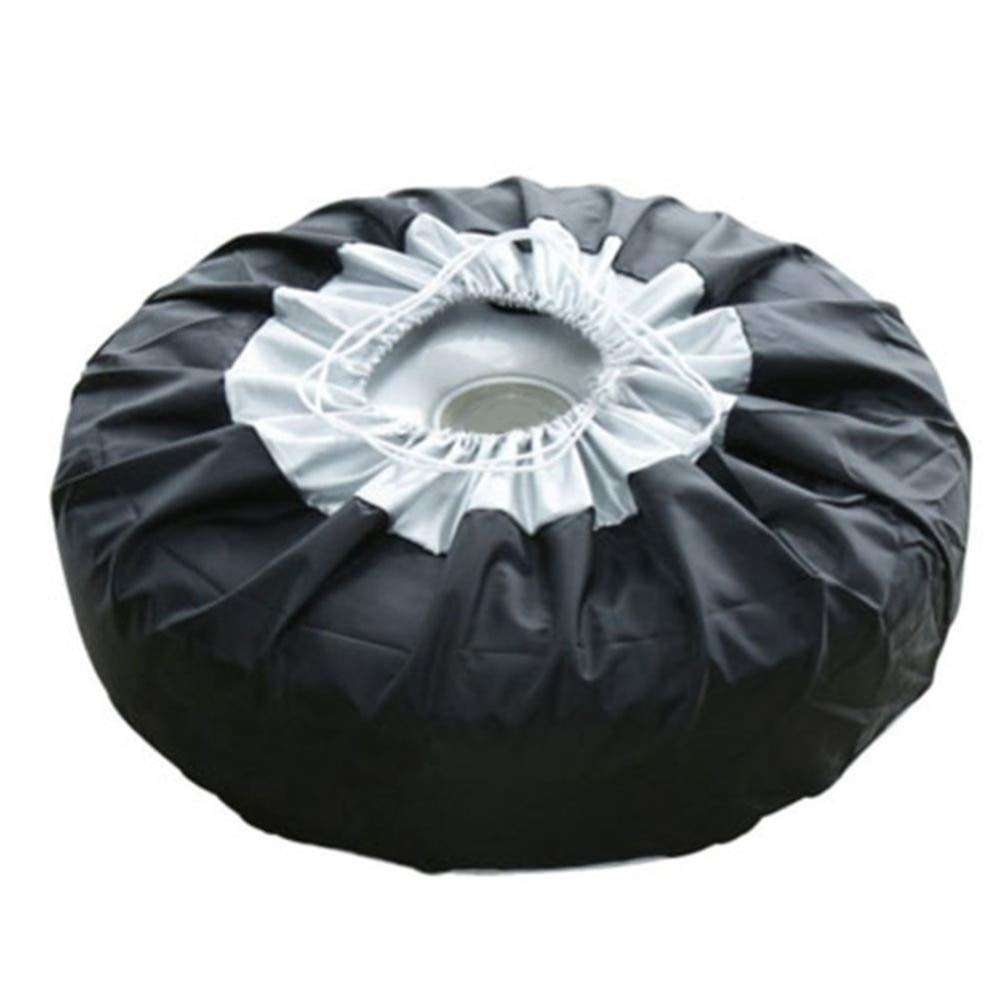 Bingo Point 1PCS Tire Cover Case Car Spare Tire Cover Storage Bags Carry Tote Polyester Tire for Cars Wheel Protection Covers 4 Season