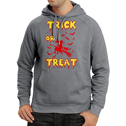 Hoodie Trick or Treat - Halloween Witch - Party outfites - Scary costume (X-Large Graphite Multi (Remake Halloween 2017)