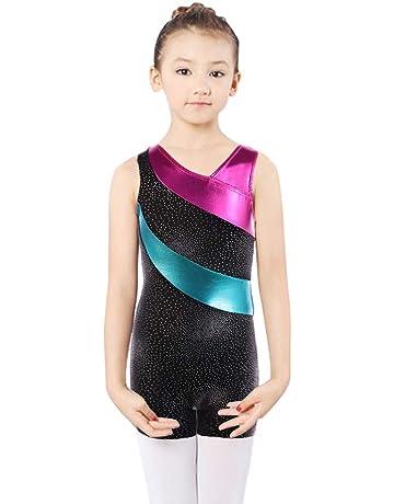 ddec58d39 DoGeek Gymnastics Leotards for Girls Unitard Dance Athletic Leotard Long  Sleeves for Girls 4-10