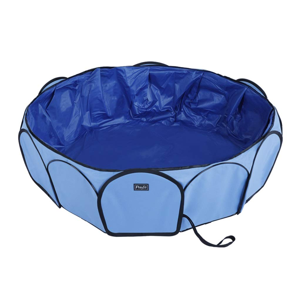 bluee Ryan Dog Bath Tub, Folding Pool Dog Bath Pet Bathing Pool For Large Dogs Bathtub (color   bluee)