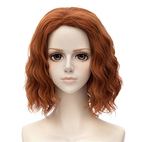 Costumes Black Widow Romanoff Natasha (Kadiya Medium Length Brown Girl Women Costume Cosplay Wig Wavy Fluffy)