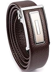 """Cinturón de Ratchet WOLFANT para hombres,1 3/8"""" cinturón de vestido de cuero genuino con hebilla corredera automática, ajuste para adaptarse"""