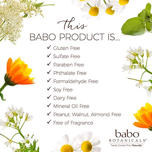 Babo Botanicals 70+% Organic Sensitive Baby All Natural Healing Ointment with Medical Grade Colloidal Oatmeal, Unscented 4 Ounce