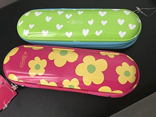 Agatha Ruiz de la Prada Metal Pencil Case - Hearts & Flowers 2pack