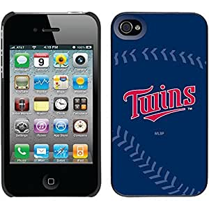 iphone covers Minnesota Twins - Twins Stitch design on Black iPhone 6 plus / 4 Thinshield Snap-On Case