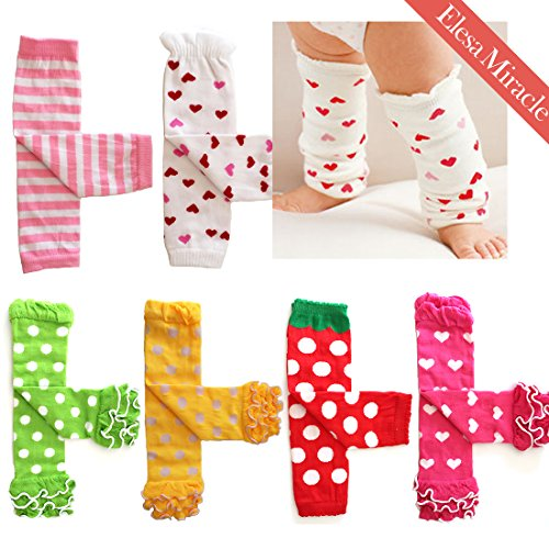 Elesa Miracle 6pc Baby & Toddler Cozy Soft Leg Warmers, Kneepads, Gift Set for Little Boys & Girls