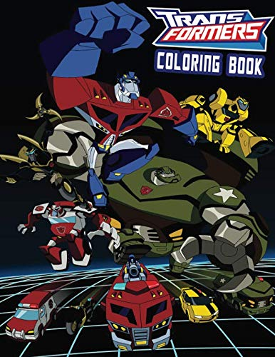 TRANSFORMERS Coloring Book: Activity Book for Kids and Adults - 40 illustrations -