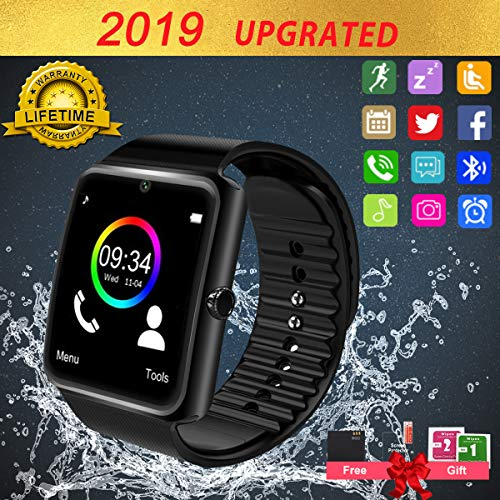 Smart Watch,Bluetooth Smart Watch for Android Phones, Smartwatch Touchscreen with Camera, Smart Watches Waterproof Smart Wrist Watch Phone Compatible Android Samsung IOS Smartphones for Mens Women
