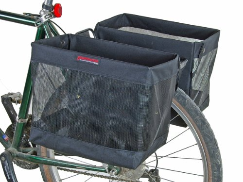 Bushwhacker Omaha - Bicycle Grocery Pannier Cycling Rack Basket Bike Rear Bag Rear Accessories - Sold as Pair -
