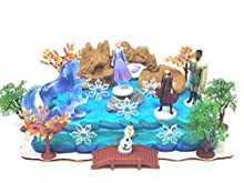 "Frozen 35 Piece Frozen Cake Topper Set Featuring 2"" Winter Wonderland Figures Cake Topper Set Includes All Items Shown"
