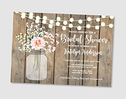 d7b7142ca38 Image Unavailable. Image not available for. Color  Rustic Bridal Shower  Invitations ...