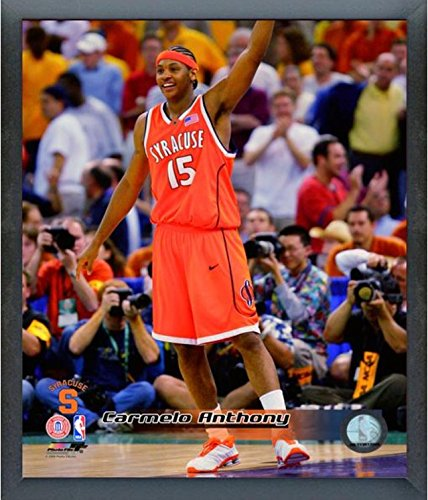 Carmelo Anthony Syracuse Orange Action Photo (Size: 12'' x 15'') Framed by Photo File