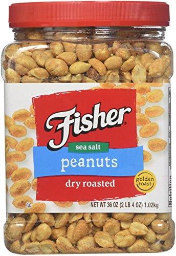 (Fisher Dry Roasted Sea Salt Peanuts 36 oz (2 LB 4 oz))