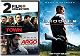 Great Stories and Action Collection - Shooter, Argo & The Town Ben Affleck Mark Wahlberg 3-Movie Bundle