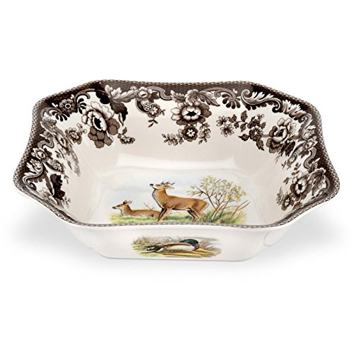 Spode Woodland American Wildlife Deer Square Salad