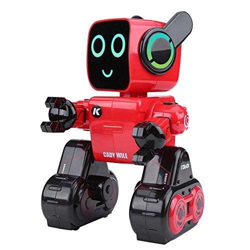 RCロボット2.4GHz 歌うダンス動く 音声制御 タッチモード インテリジェントおもちゃ 子供 キッズ 中小学生 金融科学英語教育歌 2カラー (レッド)