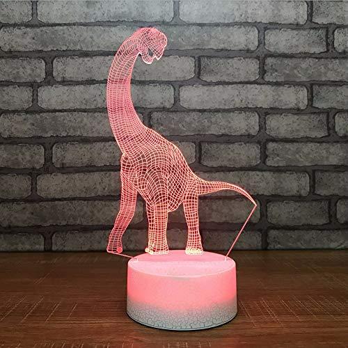Dragón Ganjue Largo Night Cuello 3d Light Innovador tshdrxQC