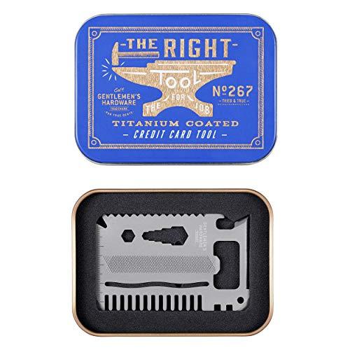 Gentlemen's Hardware 15-in-1 Titanium Coated Stainless Steel Credit Card Pocket Multi Tool