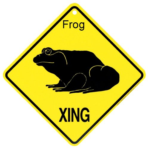 Frog Xing caution Crossing Sign wildlife Gift