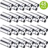 3/4 x 1 Inch Sign Holders Standoff Screws Wall Standoff Holders Screws Mount Hardware Advertising Glass Acrylic Standoff Stainless Steel Nail (48)