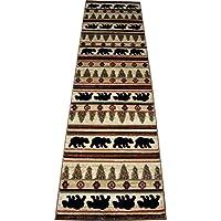 Dean Appalachian Bear Lodge Cabin Bear Carpet Runner Rug Size: 23 x 77