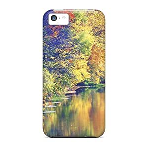 Brand New 5c Defender Case For Iphone (gorgeous Autumn River) by icecream design