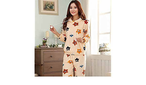 Syksdy Casa De Invierno Desgaste Mujer Pijama Gruesa Suts Dormir Pijama Feminino Pijama Mujer Primark Dama Cartoon Mujer Pijama Establece,2,M: Amazon.es: ...
