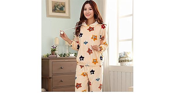 Syksdy Casa De Invierno Desgaste Mujer Pijama Gruesa Suts ...