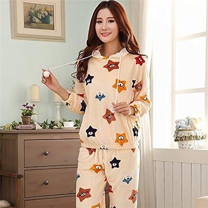 Syksdy Casa De Invierno Desgaste Mujer Pijama Gruesa Suts Dormir Pijama Feminino Pijama Mujer Primark Dama