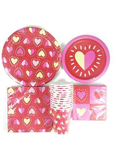 Valentines-Party-Supply-Bundle-8tazas-de-papel-18servilleta-8platos-12servilletas-y-8platos-llanos