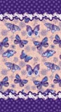 New Butterflies Velour Beach Towel, 40x72 inches Made in Brazil