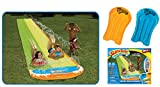 Wham-O Slip N Slide 16 ft Wave Rider Double Water Slide with 2 Slide Boogies (For Ages 5-12.)
