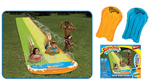 Wham-O Slip N Slide 16 ft Wave Rider Double Water Slide with 2 Slide Boogies (For Ages 5-12.) by Wham-O (Image #1)