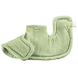 Sunbeam Renue Heat Therapy Neck and Shoulder Wrap Heating Pad with Moist/Dry Heat, Spa Green