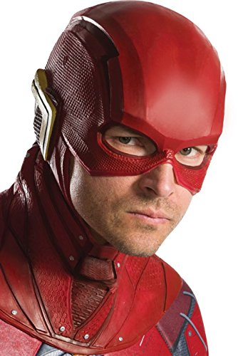 Rubie's Costume Co Justice League Flash Overhead Latex Mask, As Shown, One Size -