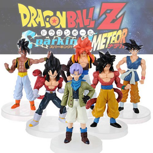 Gansup Anime 6pcs Dragonball Z Dragon Ball DBZ Goku Piccolo Action Figure Toy Sets