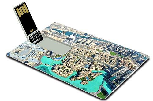 Luxlady 32GB USB Flash Drive 2.0 Memory Stick Credit Card Size Dubai Mall View IMAGE - View Mall Gulf