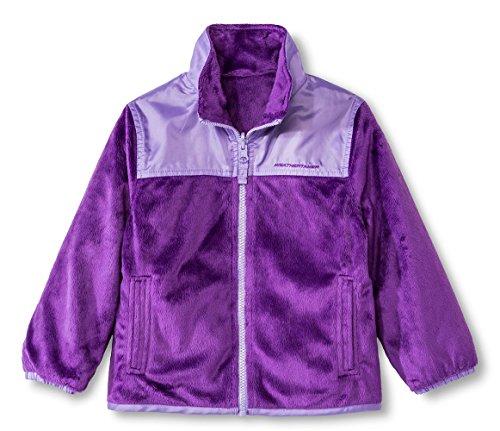 Toddler Reversible Jacket (Weather Tamer Toddler/Little Girls Reversible Fleece Jacket, Purple 4T)