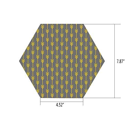iPrint Hexagon Wall Sticker,Mural Decal,Arrow Decor,Modern A