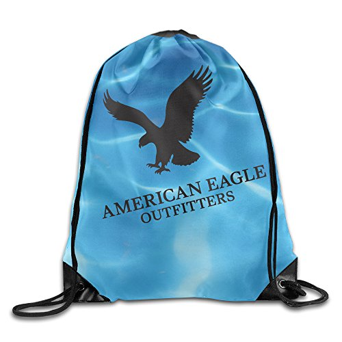 Price comparison product image GYM American Eagles Team Strong Logo Drawstring Backpack Bag