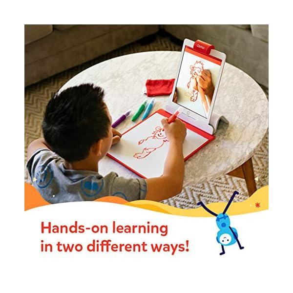 Osmo – Base – 2 giochi di apprendimento mani – disegno creativo e risoluzione dei problemi – fisica precoce – bianco/rosso 4 spesavip