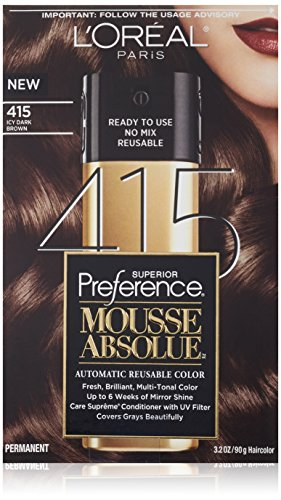L'Oreal Paris Superior PreferenceMousse Absolue, 415 Icy Dark Brown